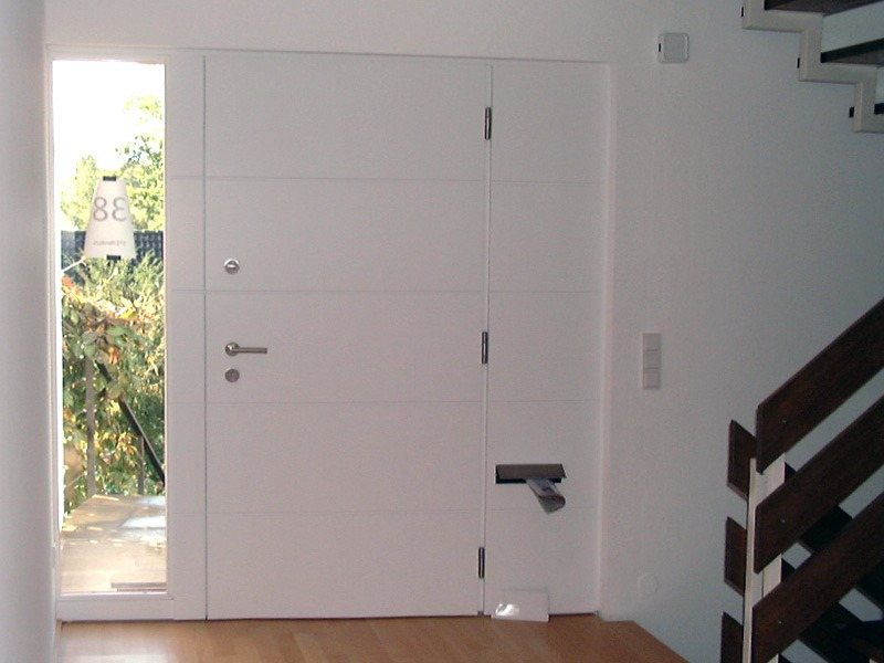 Tür weiß von Innen mit Fenster